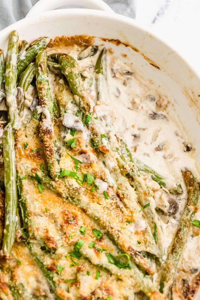 low-carb gluten-free green bean casserole