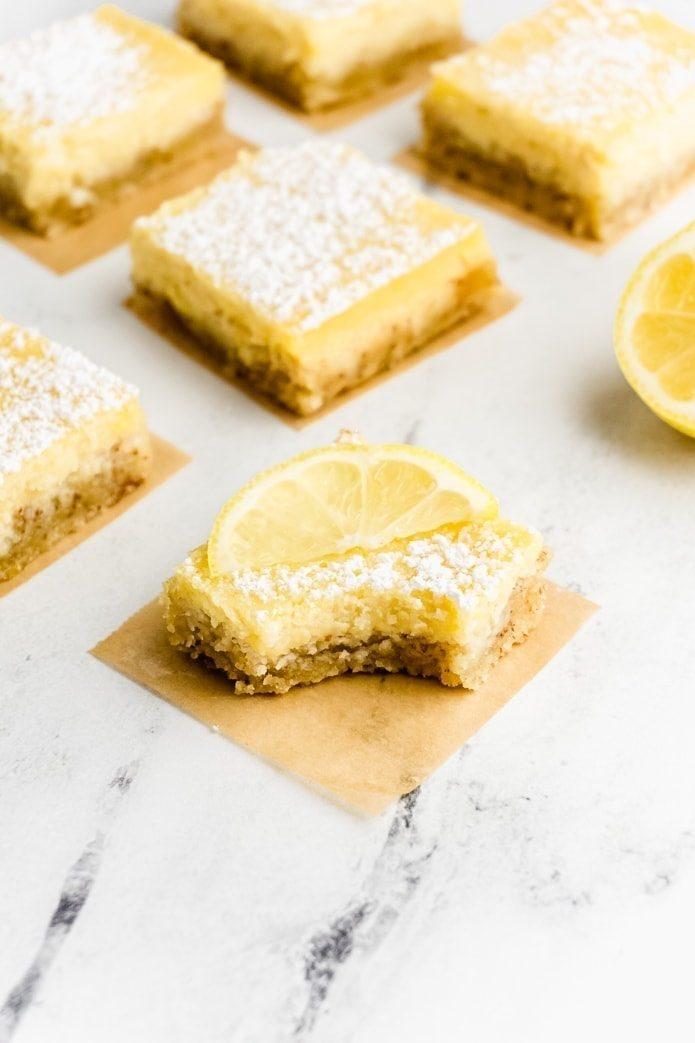 gluten-free keto lemon bars
