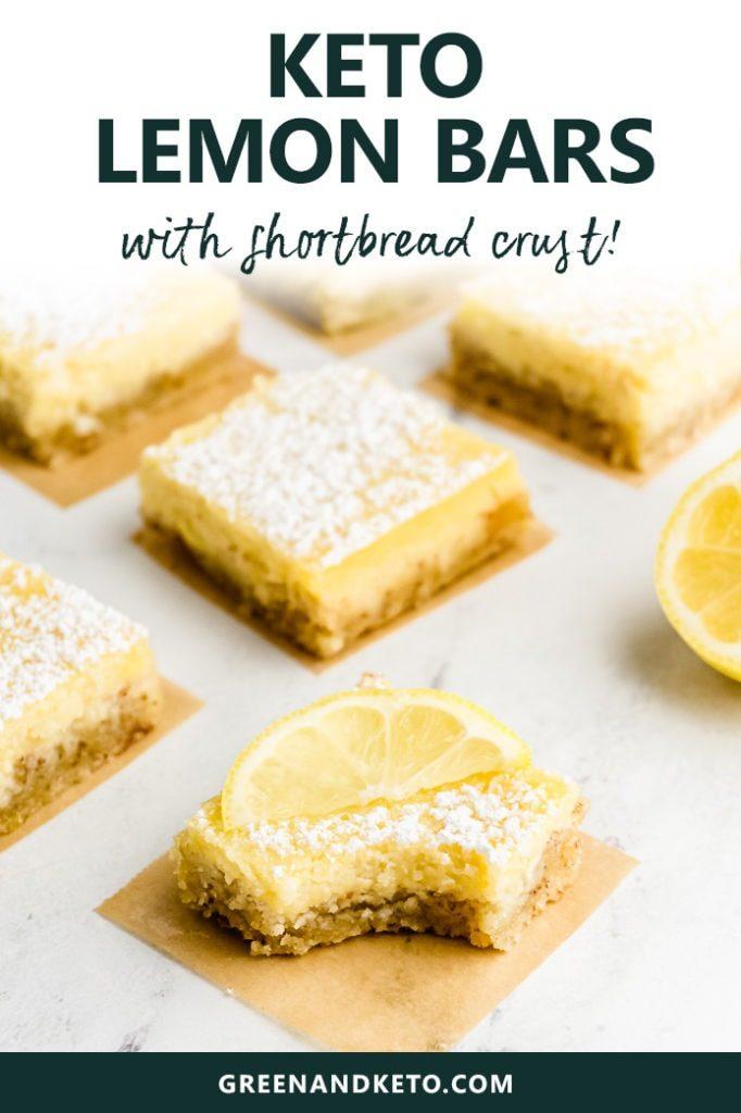 Keto Lemon Bars Recipe With Shortbread Crust