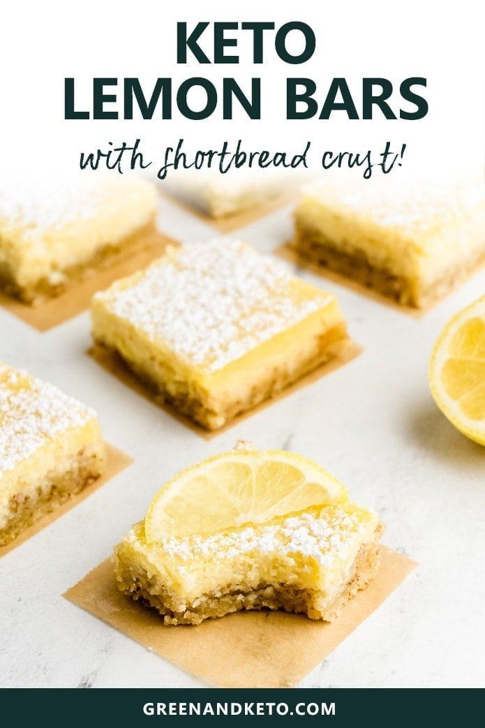 keto lemon bars with a shortbread crust