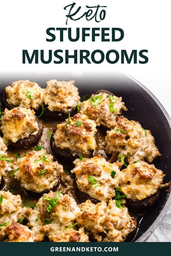 keto stuffed mushrooms with sausage and cream cheese
