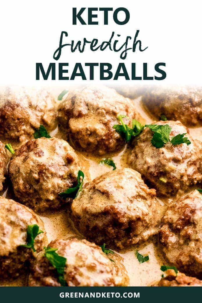 keto swedish meatballs in pan sauce