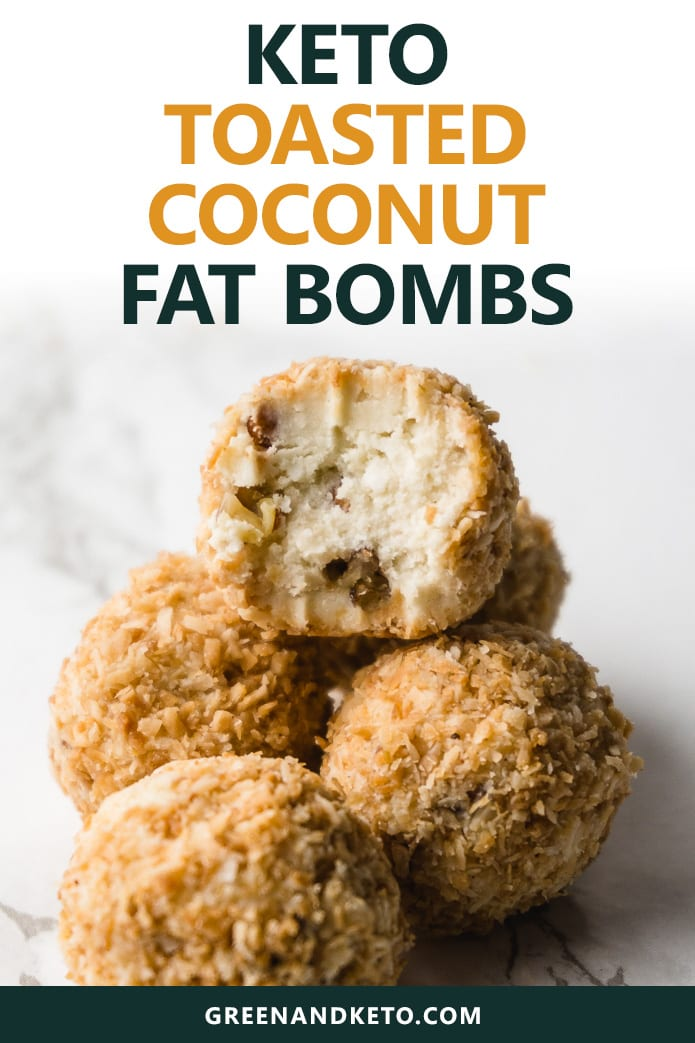 keto toasted coconut fat bombs are a low-carb snack