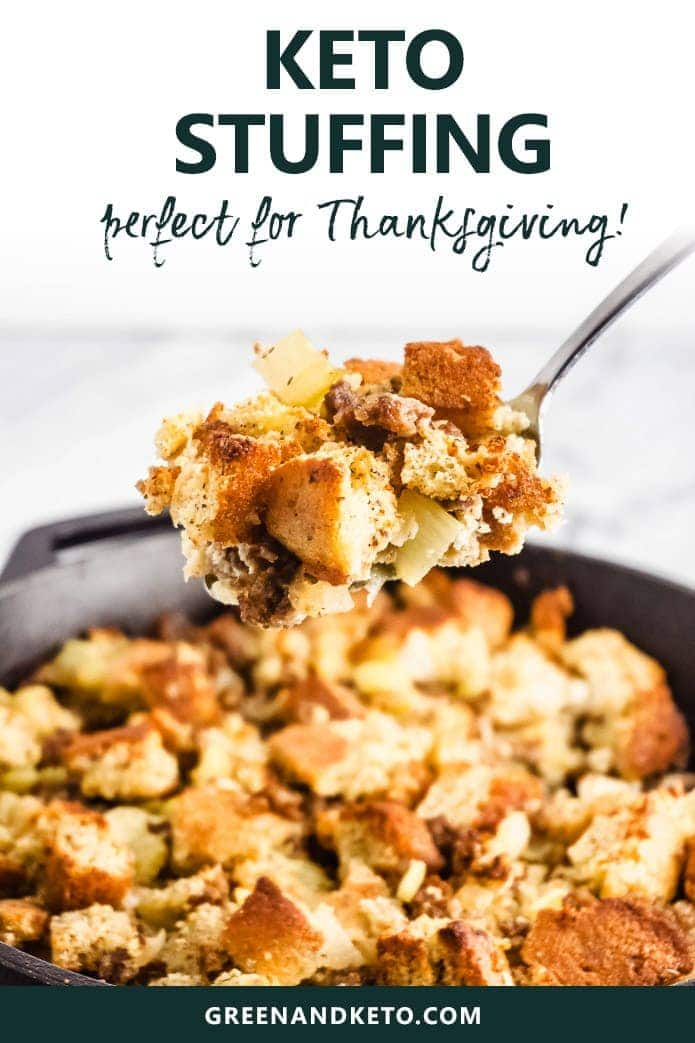 keto cornbread stuffing is the perfect recipe for Thanksgiving