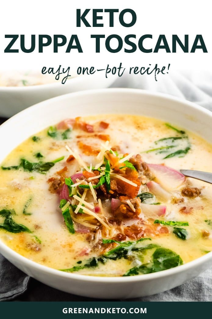 keto zuppa toscana is an easy low-carb, on-pot recipe