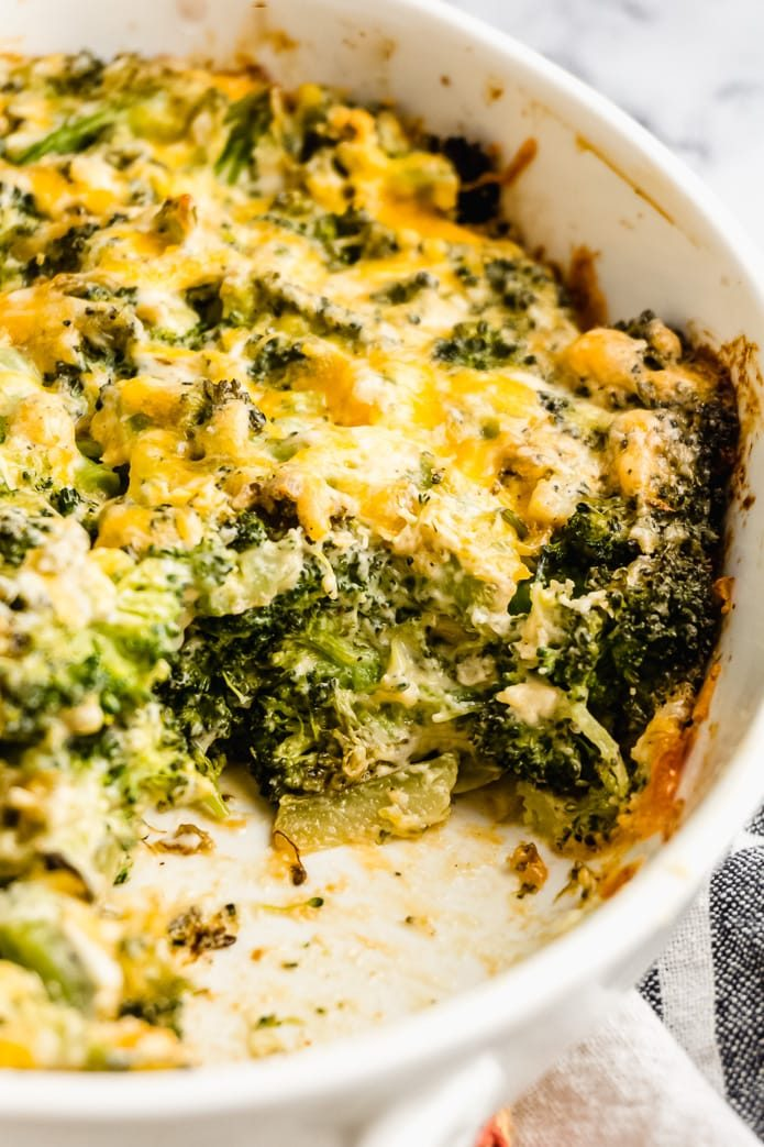 low-carb and gluten-free broccoli cheese casserole