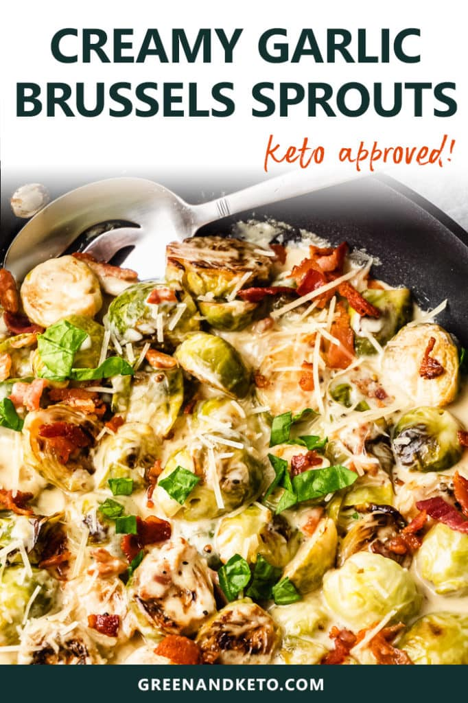 Keto Garlic Parmesan Brussels Sprouts with Bacon