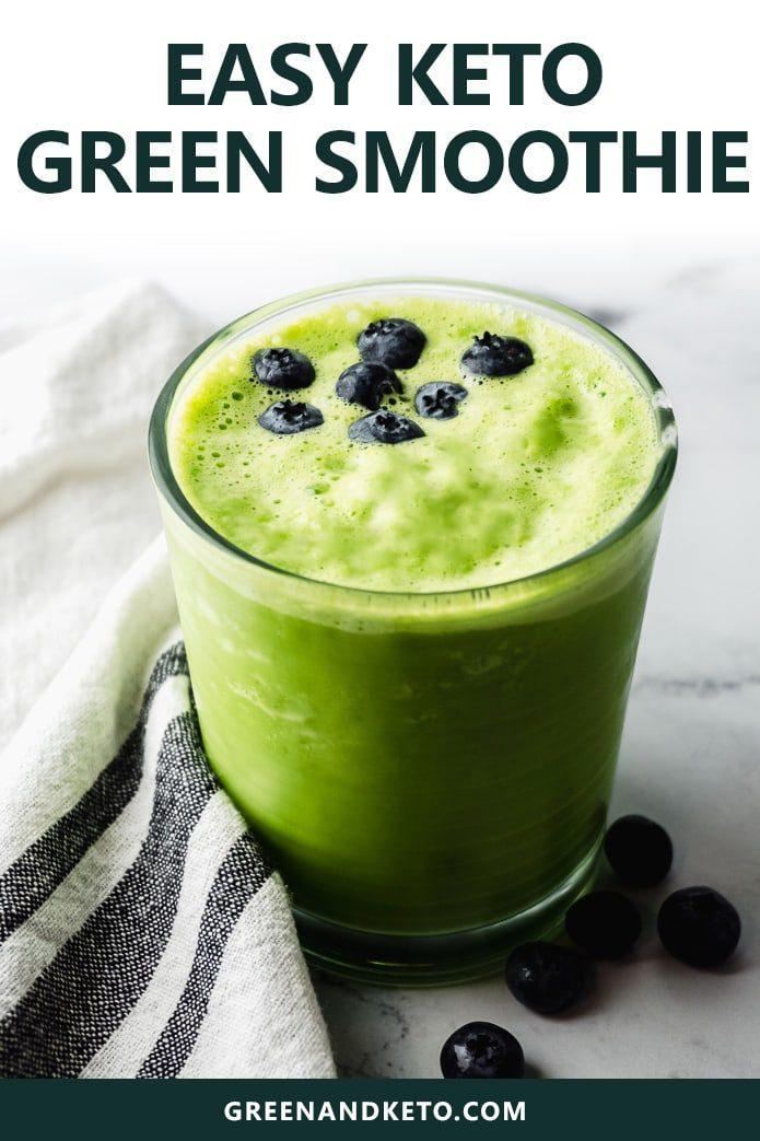 easy keto green smoothie recipe with coconut milk