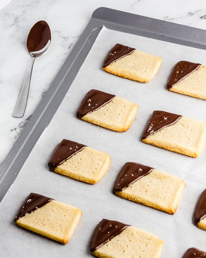 gluten free almond flour cookies dipped in chocolate