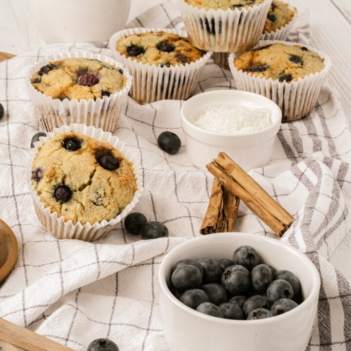 * Almond Flour Blueberry Muffins