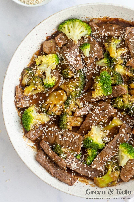 keto friendly beef and broccoli stir fry