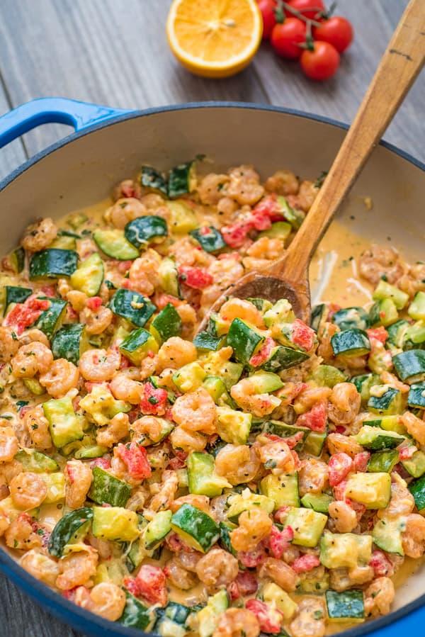 Creamy Shrimp and Zucchini