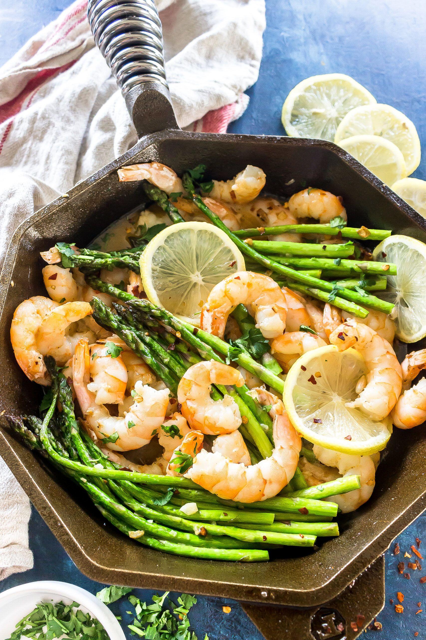 Keto Garlic Butter Shrimp and Asparagus