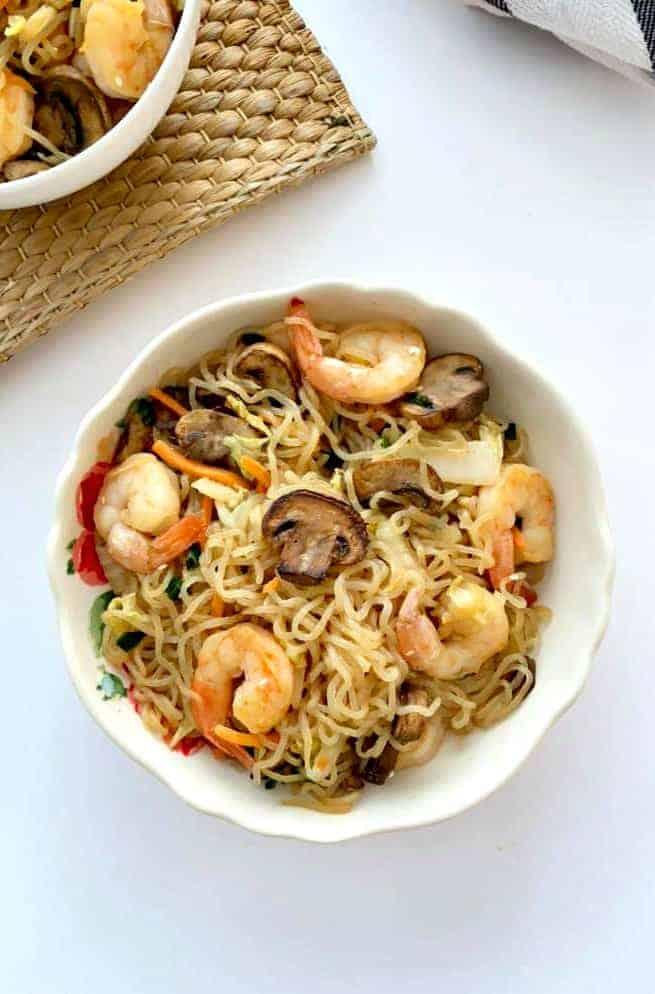 Keto Lo Mein with Shrimp