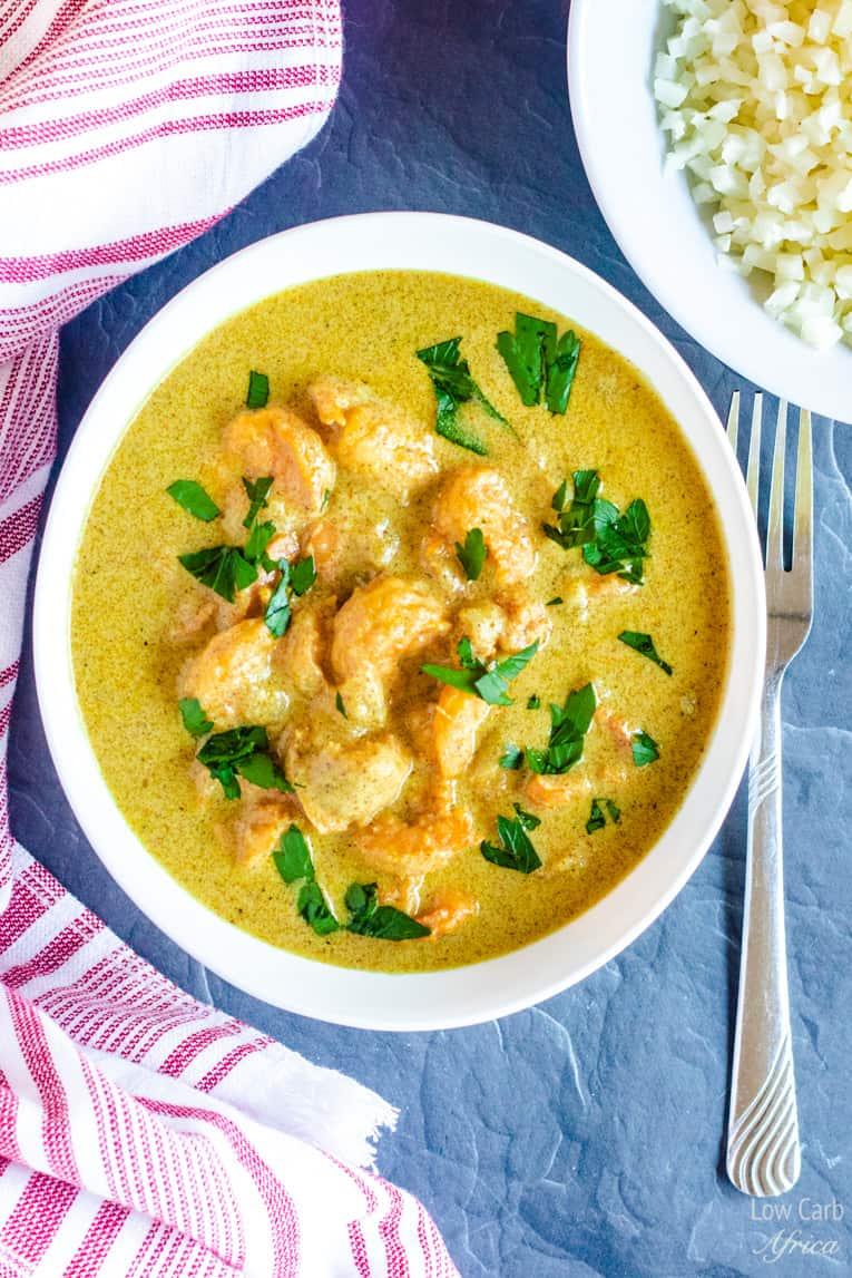 Keto Shrimp Coconut Curry