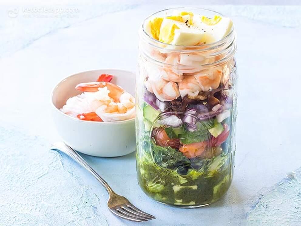Shrimp Cobb Salad Jars